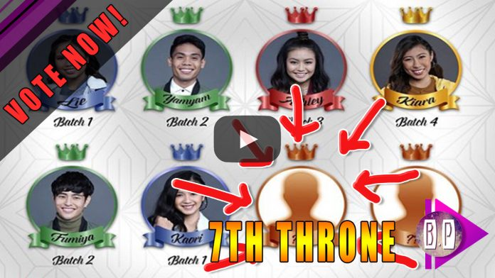 Pinoy Big Brother OTSO 7th Throne Online Vote Sytem for Team Online