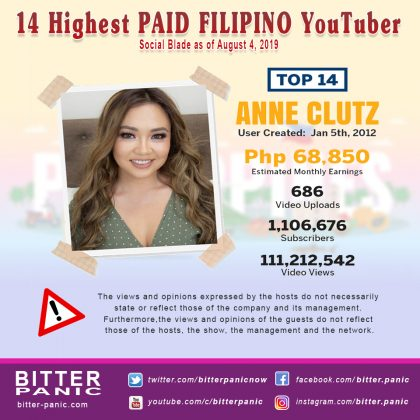 14 Highest PAID FILIPINO YouTuber - Anne Cluts