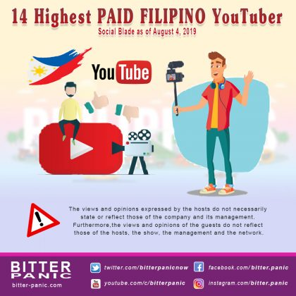 14 Highest PAID FILIPINO YouTuber - Front Page