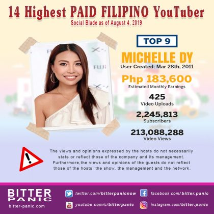 14 Highest PAID FILIPINO YouTuber - Michelle Dy